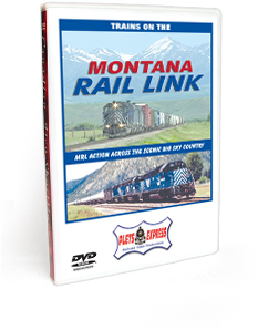 Trains on the Montana Rail Link DVD Video